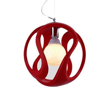 Потолочный светильник Ультра, красныйПотолочные светильники<br><br><br>Бренд: Ozcan<br>Цвет: Красный<br>Размеры: 120 cm<br>Материал: Пластик<br>Диаметр: 30<br>Дополнительная информация: для кухни<br>Мощность и вид ламп: E27 1*60w<br>Цвет покрытия: Красный
