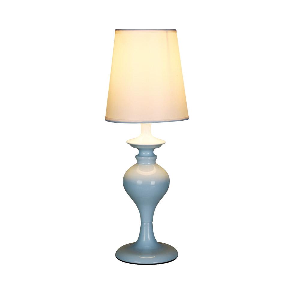 Настольная лампа ObiНастольные светильники<br><br><br>Бренд: Gramercy Home<br>Цвет: Бежевый, Голубой<br>Размеры: 14 x 14 x 39 cm<br>Материал: Металл, Ткань, Керамика