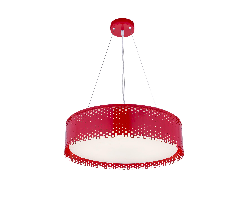 Подвесной светильник Ажур, красныйПотолочные светильники<br><br><br>Бренд: Ozcan<br>Цвет: Красный<br>Размеры: 40 x 40 x 13 cm<br>Дополнительные материалы: акрил<br>Диаметр: 40<br>Тип ламп: LED<br>Мощность и вид ламп: Power led 1*18w+1*10w<br>Цвет стекла: Оранжевый<br>Цвет покрытия: Оранжевый<br>Дополнительная информация: для комнаты<br>Стиль: None