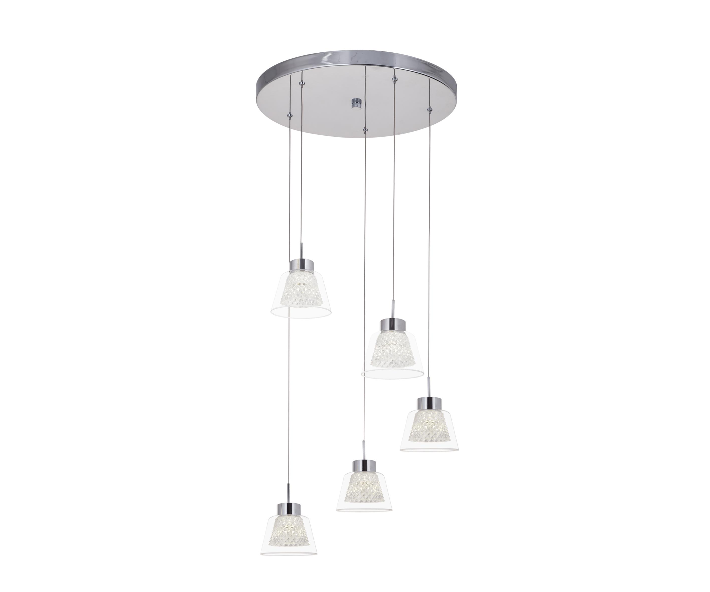 Подвес АзанПотолочные светильники<br><br><br>Бренд: Ozcan<br>Цвет: Серый<br>Размеры: 41 x 41 x 120 cm<br>Дополнительные материалы: металл, стекло<br>Диаметр: 41<br>Тип ламп: LED<br>Мощность и вид ламп: Led 5*3w<br>Цвет покрытия: Хром<br>Дополнительная информация: для гостиной<br>Стиль: None