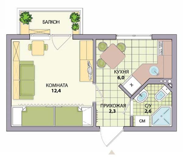 Как сделать из 2 комнатной квартиры 3 комнатную квартиру