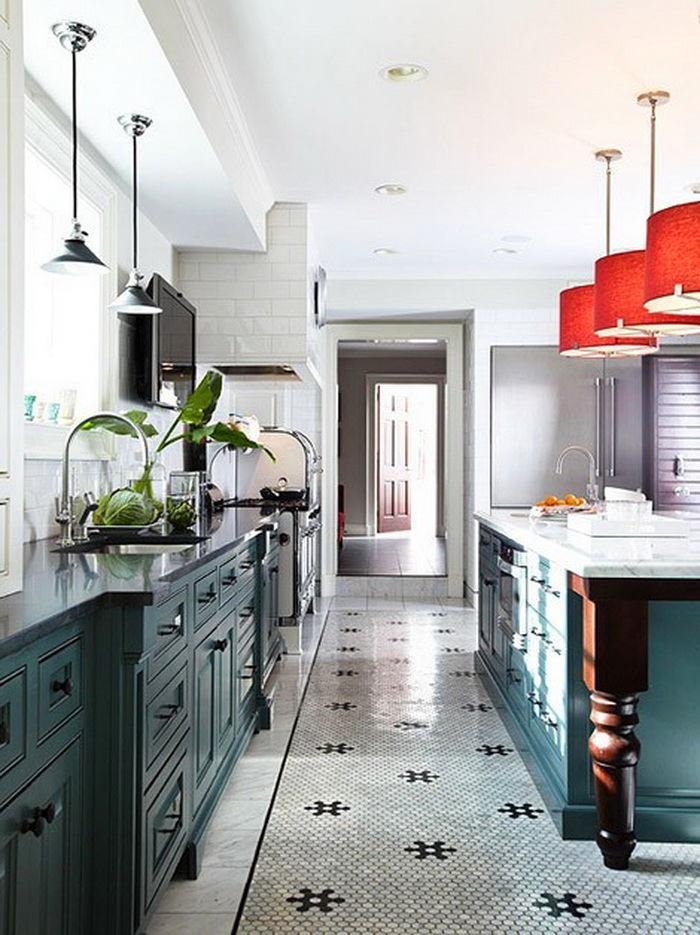Кухня в цветах: серый, светло-серый, белый, темно-зеленый. Кухня в .