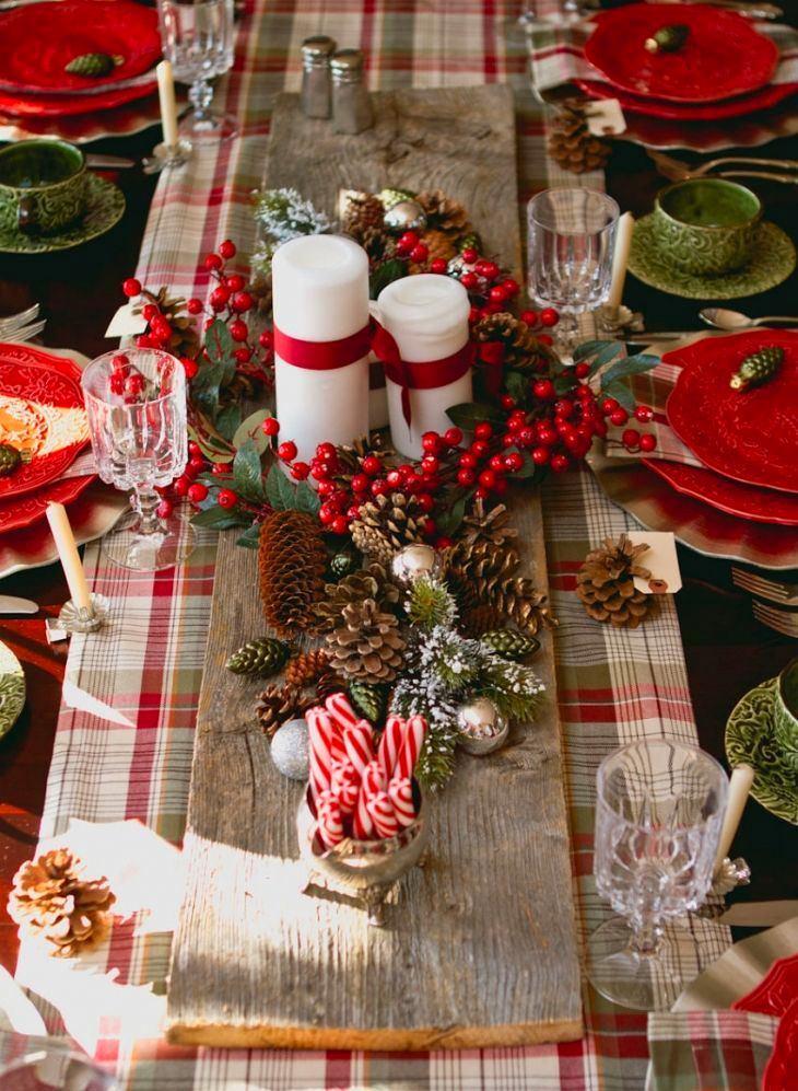Украшения для новогоднего стола своими руками