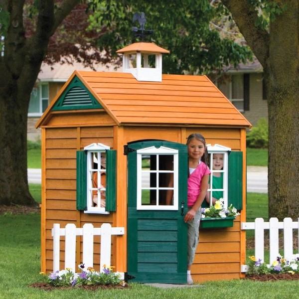 Красивый детский домик своими руками