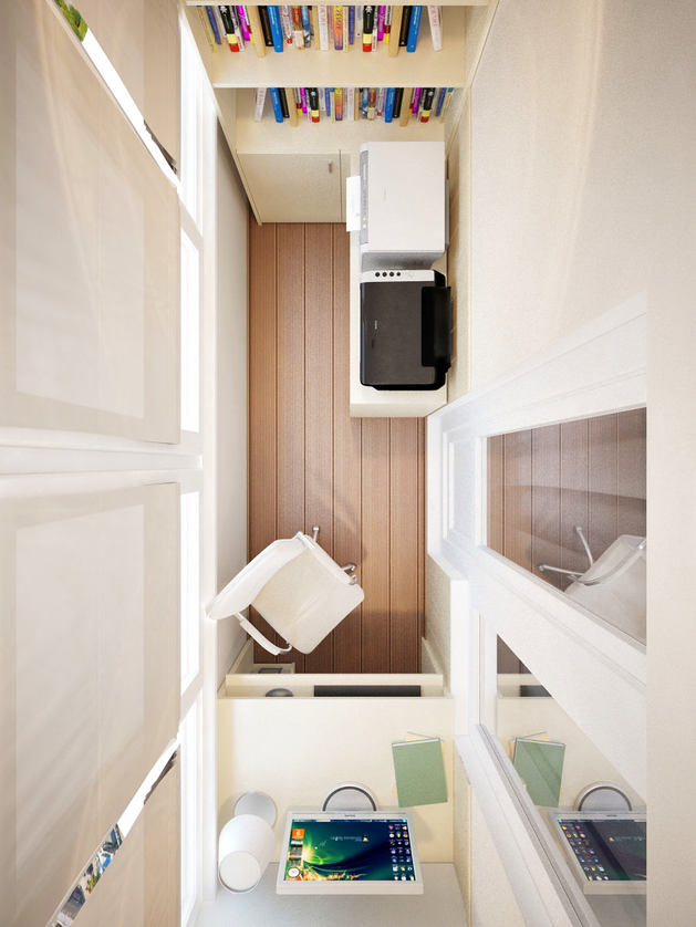 Балкон, веранда, патио в цветах: желтый, светло-серый, белый, коричневый. Балкон, веранда, патио в .