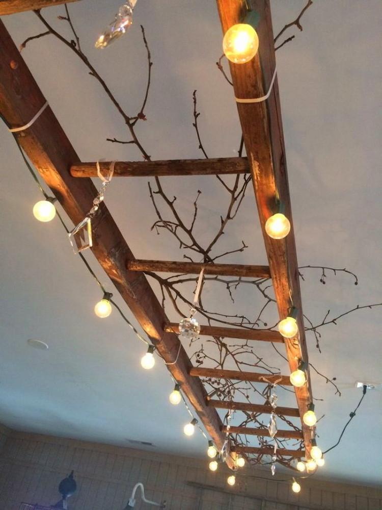 Потолок из лампочек своими руками 40