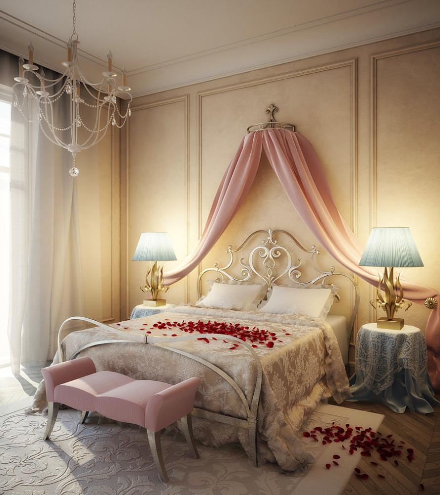 Дизайн комнаты для молодоженов