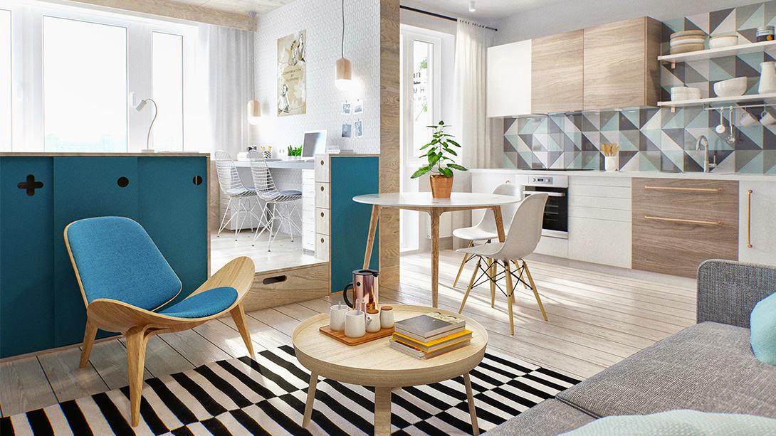 Балкон, веранда, патио в цветах: серый, светло-серый, сине-зеленый, бежевый. Балкон, веранда, патио в стиле скандинавский стиль.
