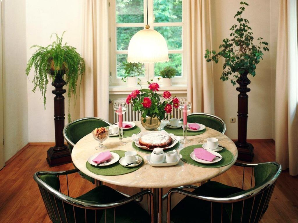Кухня с живыми цветами