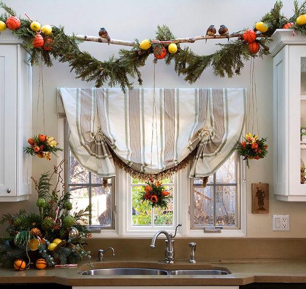 Как к новому году украсить кухню своими руками