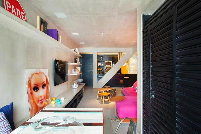 Мебель и предметы интерьера в цветах: черный, серый, светло-серый, бежевый. Мебель и предметы интерьера в стиле лофт.