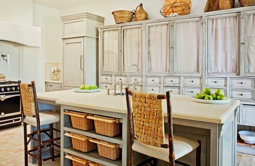 Плетеный интерьер кухни