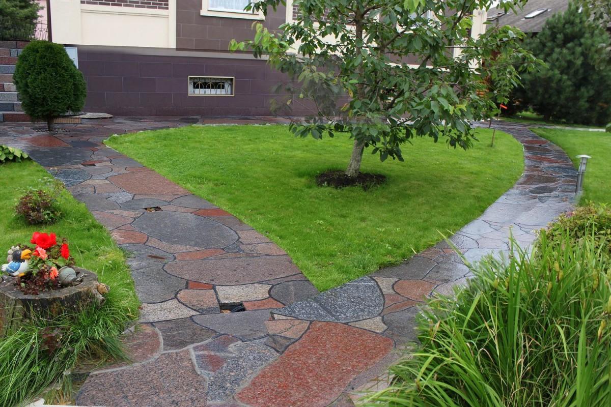 Дорожки из камня своими руками на даче и в саду: какой материал 72