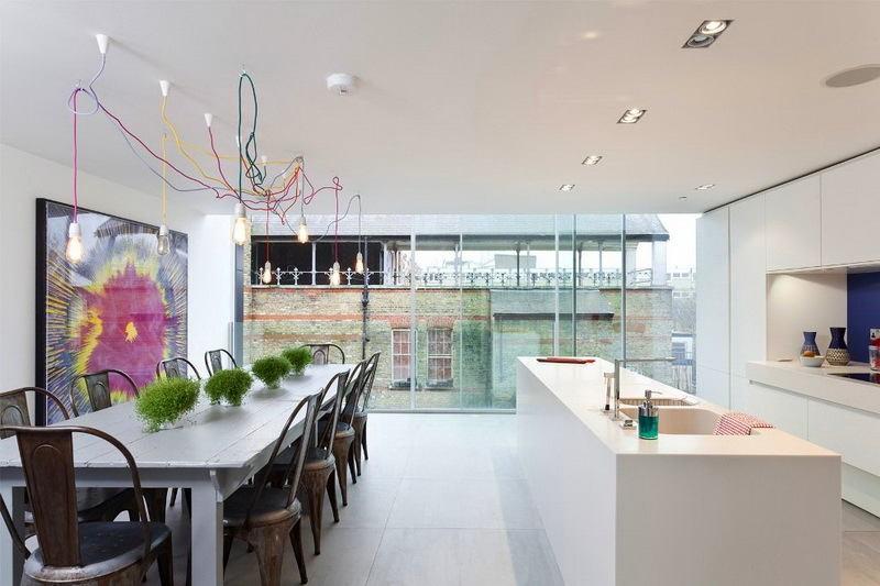 Кухня в цветах: бирюзовый, черный, серый, белый. Кухня в .