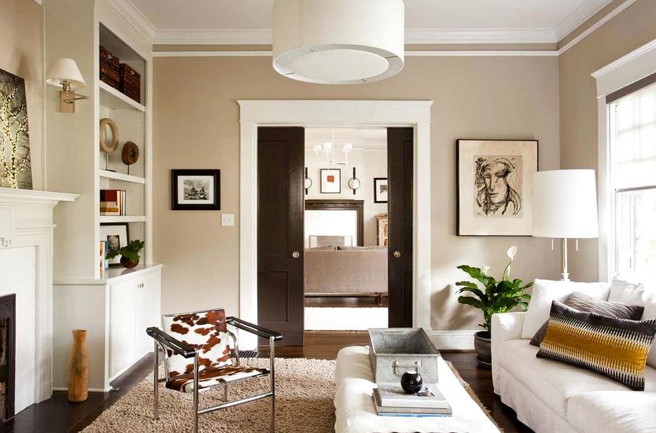Сочетание светлой и темной мебели в интерьере фото