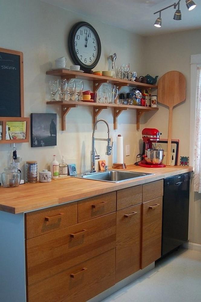 Кухня в цветах: светло-серый, коричневый, бежевый. Кухня в стиле кантри.