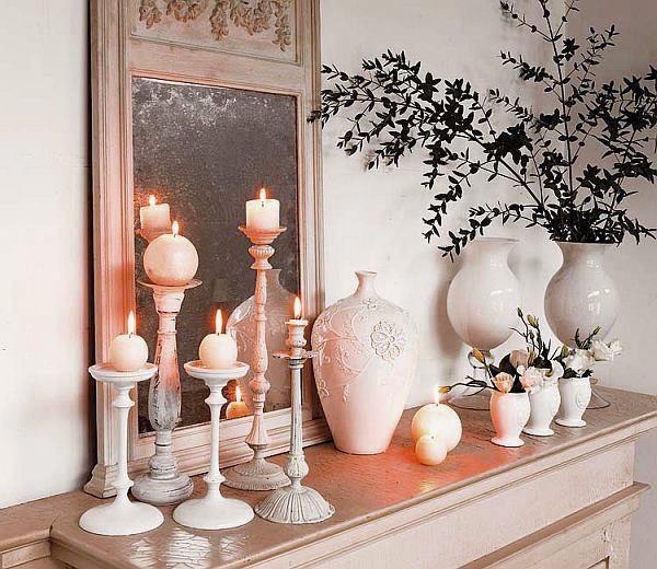 Декорирование интерьера свеч