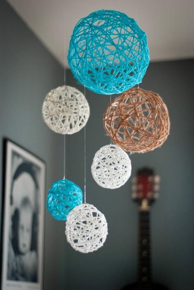 Декоративные шары из ниток своими руками фото пошагово
