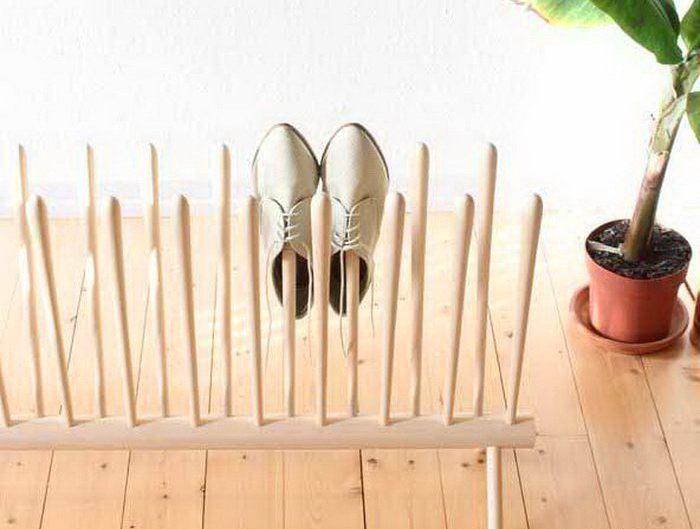 Подставка для обуви на даче фото