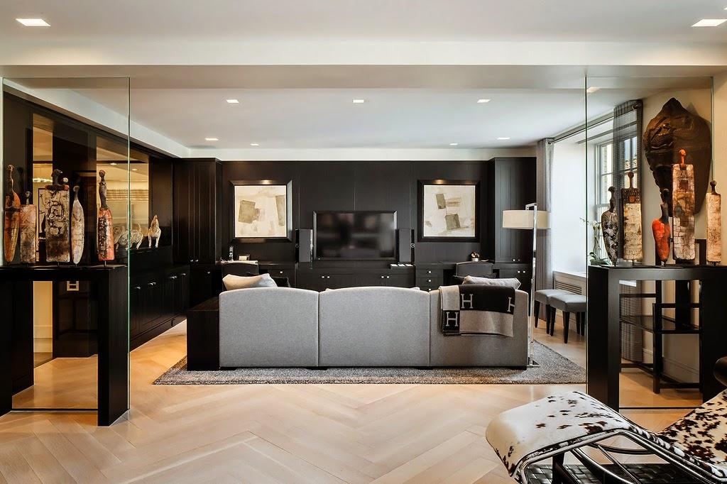 Гостиная, холл в цветах: черный, серый, светло-серый, коричневый, бежевый. Гостиная, холл в стилях: этника, эклектика.