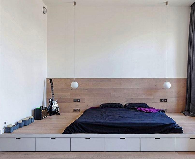 Кровать-подиум: советы, идеи, мнение специалиста / Surfingbird - проводи время с пользой для себя!