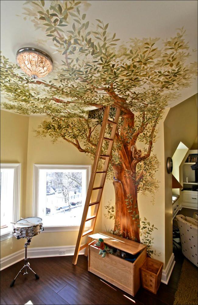 Декор интерьера деревом своими руками