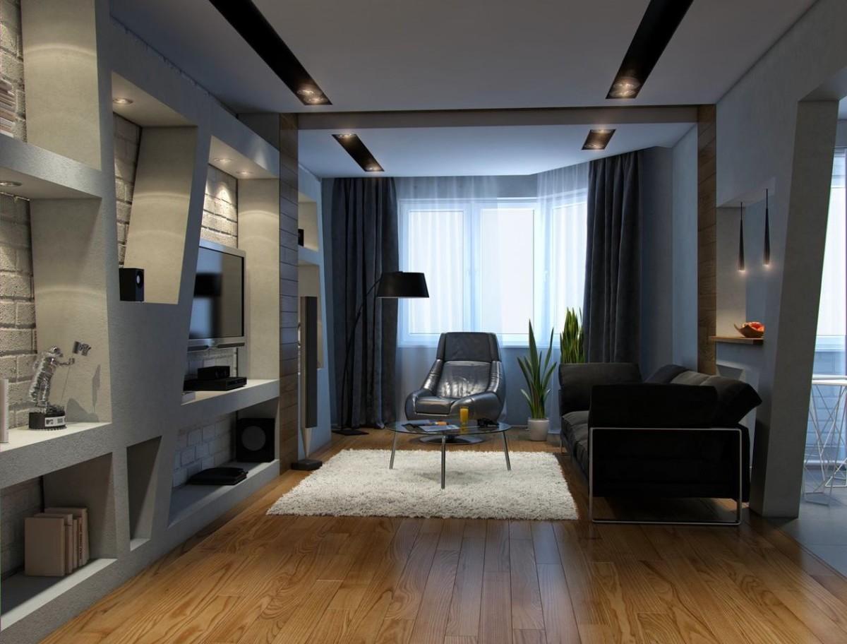 Дизайн 3 комнатных квартир в стиле хай тек