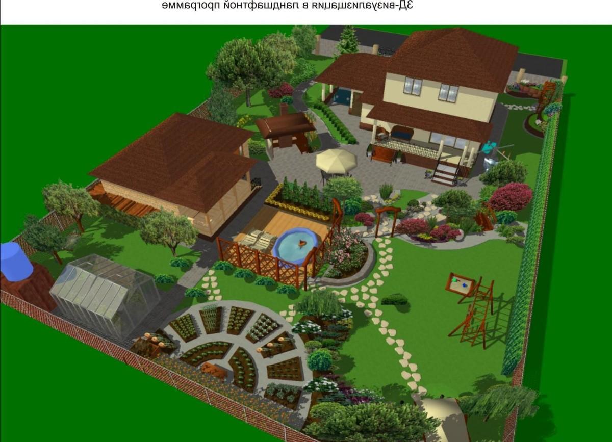 Проект ландшафтного дизайна участка 12 соток