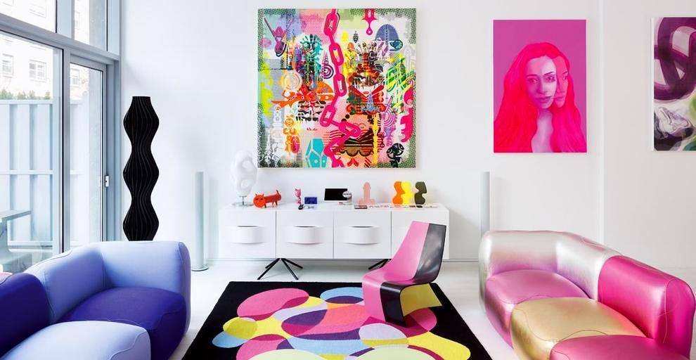 Мебель и предметы интерьера в цветах: желтый, голубой, серый, светло-серый, бежевый. Мебель и предметы интерьера в .