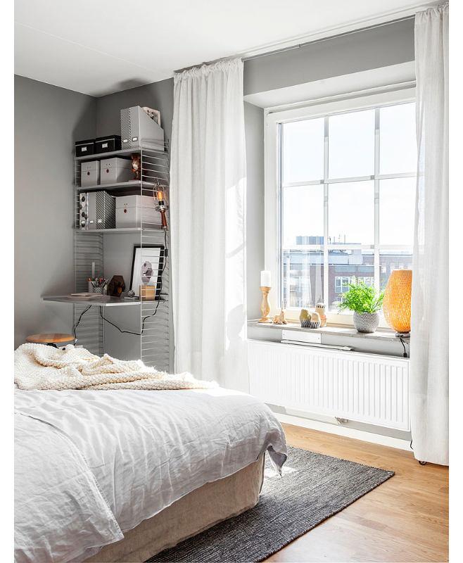 Мебель и предметы интерьера в цветах: черный, серый, светло-серый. Мебель и предметы интерьера в стиле скандинавский стиль.