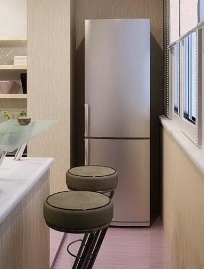 Дизайн балкон с холодильником. - наши работы - каталог стате.