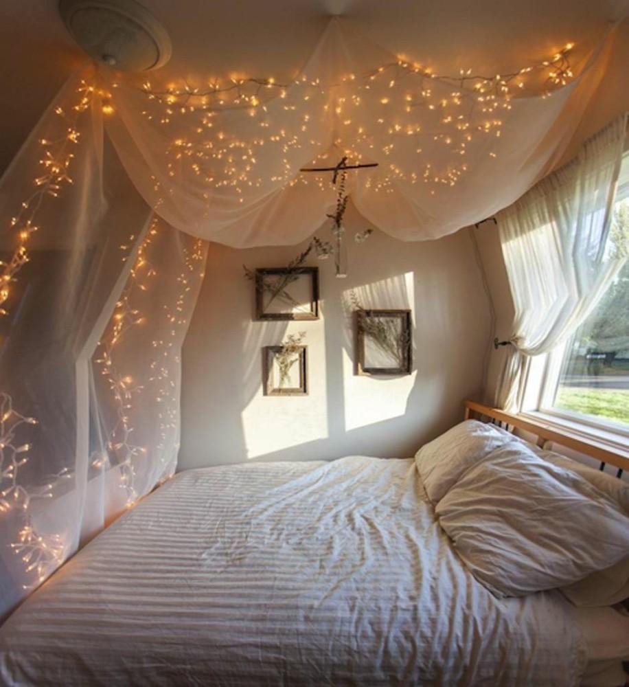 Дизайн комнаты с балдахином