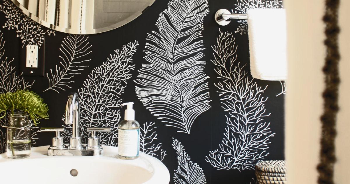 Ванная в цветах:  Бежевый, Белый, Светло-серый, Темно-коричневый, Черный. Ванная в стиле:  Минимализм.