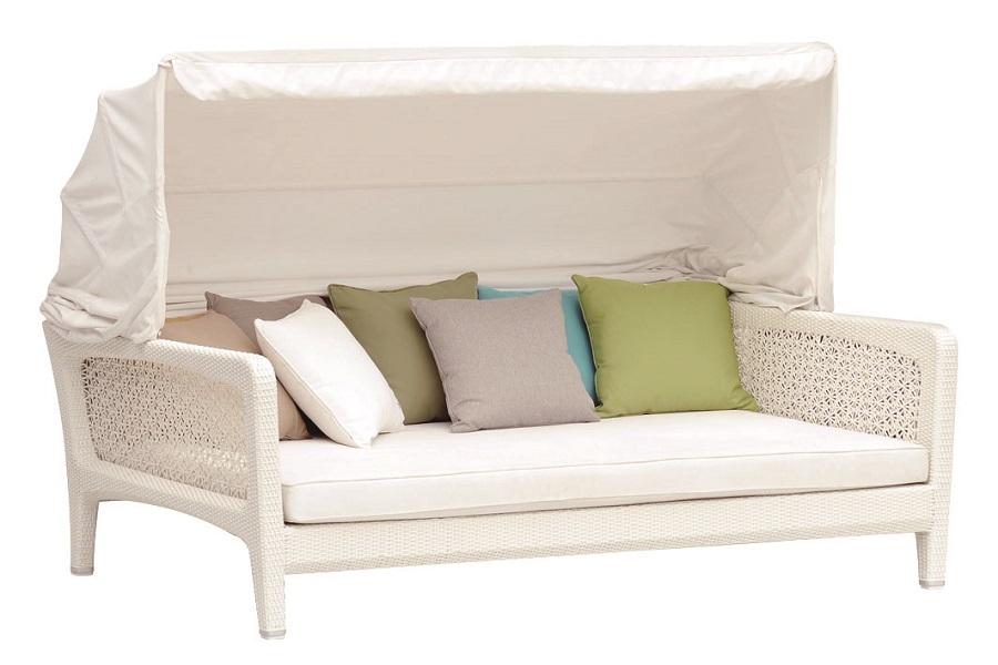Пляжный диван-кровать  Лабро, серыйСадовые зонты<br>&amp;#171;Лабро&amp;#187;, кровать для отдыха  из искуственного ротанга со съемным козырьком и чехлом для хранения, размеры 208х150х76,  цвет серый<br><br>Бренд: 4SiS<br>Цвет: Бежевый, Коричневый, Серый<br>Размеры: 208 x 150 x 155 cm<br>Объём: 2,371