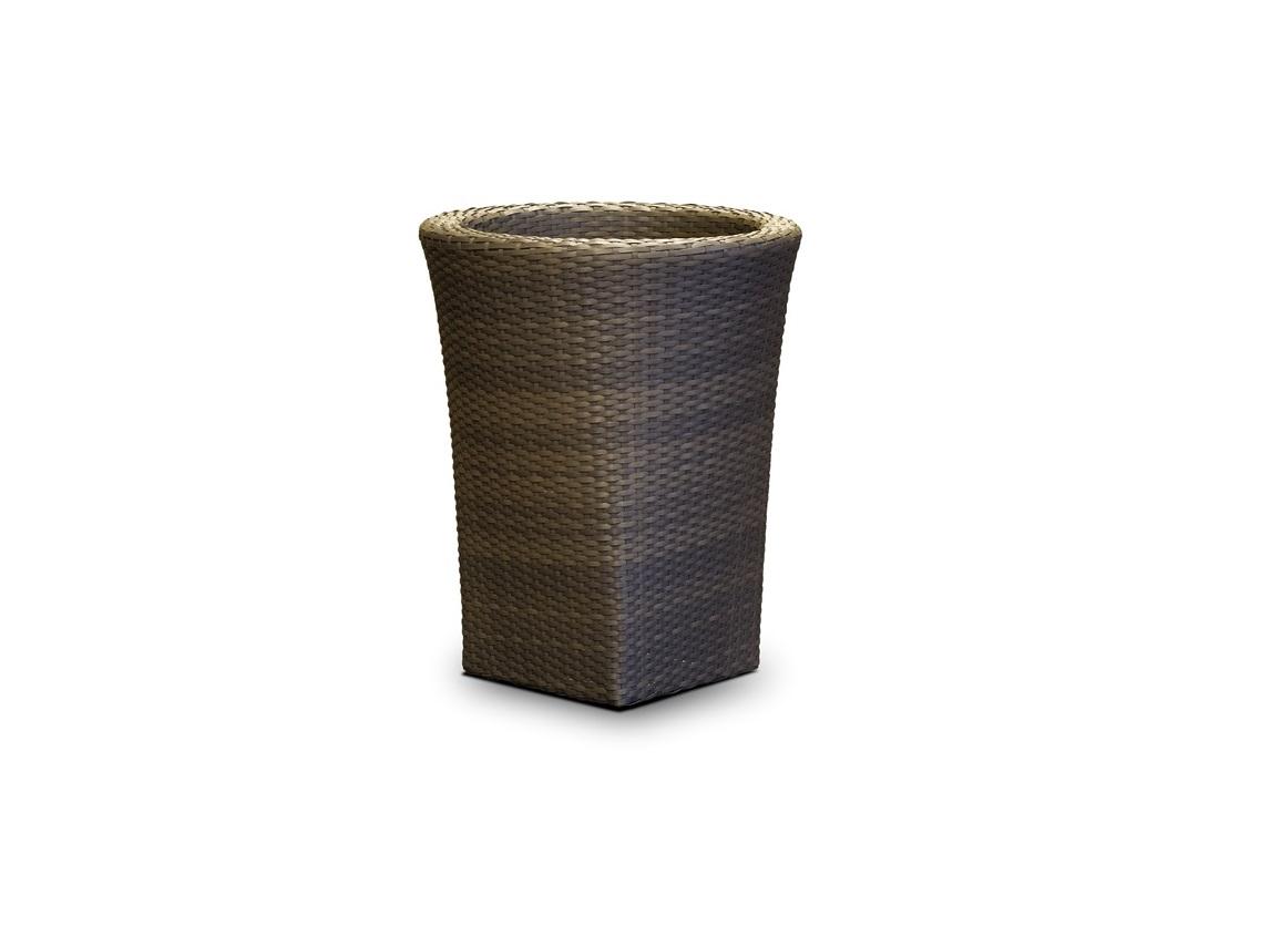 Ваза-кашпо ЛуккаСадовые принадлежности<br>&amp;#171;Лукка&amp;#187; ,  663591, ваза для цветов, алюминиевый каркас, искусственный ротанг, размер 500х500х600, цвет серо &amp;#8212; коричневый<br><br>Бренд: 4SiS<br>Цвет: Темно-коричневый<br>Размеры: 50 x 50 x 60 cm<br>Объём: 0,15