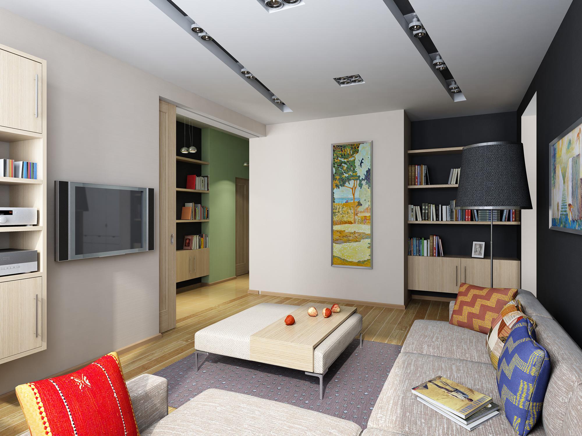 Проходная двухкомнатная квартира дизайн